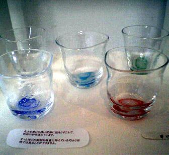 グラスアート青い風