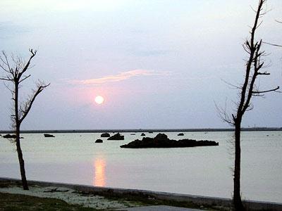 絶景の夕日